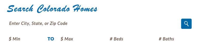 Search Colorado Homes